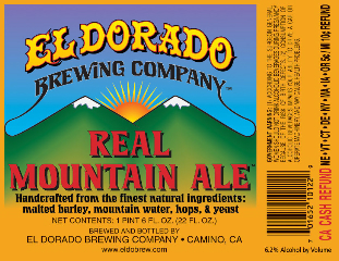 Label for Real Mountain Ale