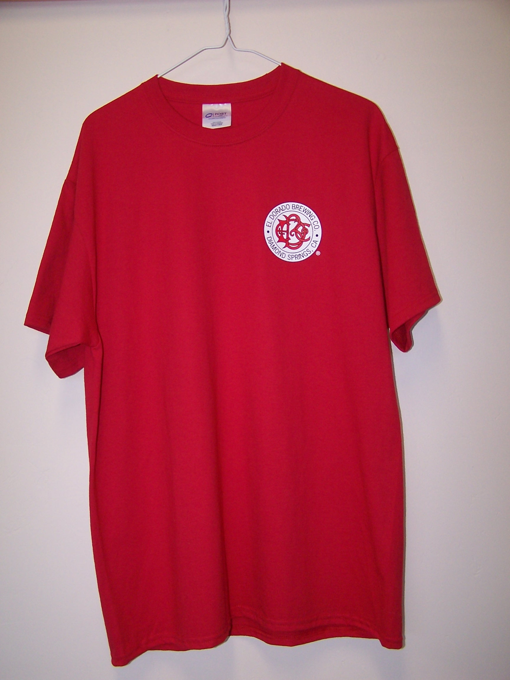 Red T-Shirt $20-25 [Small Logo Front]
